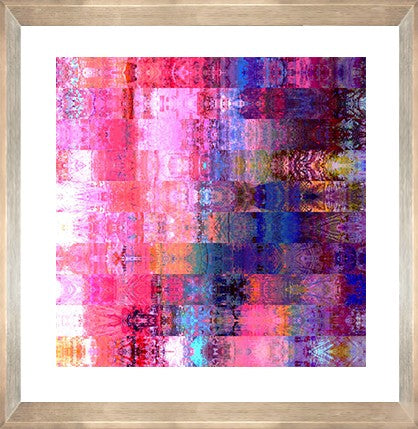 Pink India Print with Frame