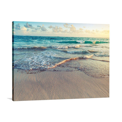 Under the Blue Dawn Canvas Print with Floating Frame