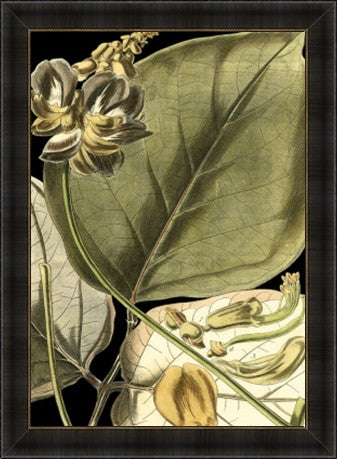 Tranquil Tropical Leaves I Framed Print