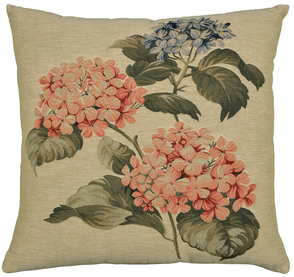 Two Pink Hydrangea Cushion
