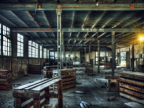 Old Warehouse Photographic Canvas