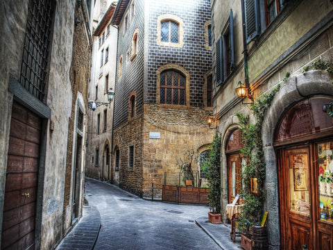 European Laneway Photographic Canvas