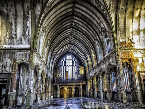 Cathedral Interior Photographic Canvas