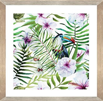 Blossoming Bird Print with Frame