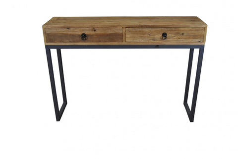 Industrial 2 Drawer Console Table