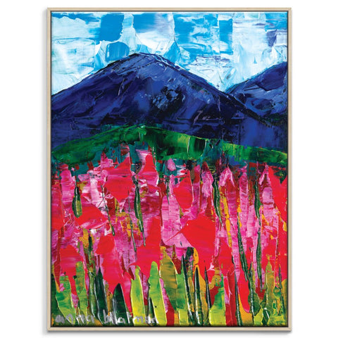 Deep Beyond Framed Canvas Print