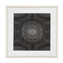 Aboriginal Dot Black Fabric Artwork