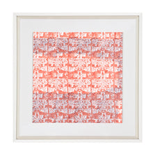 Ruins Haze Orange Fabric Artwork