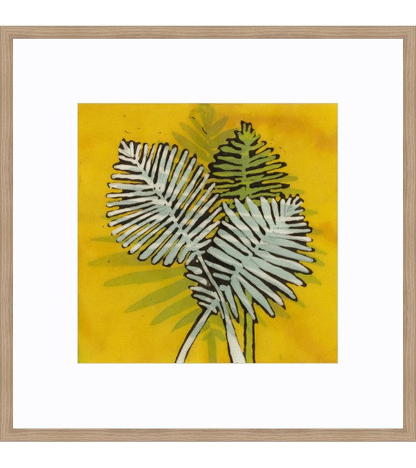 Gold Batik Botanical III Framed Print