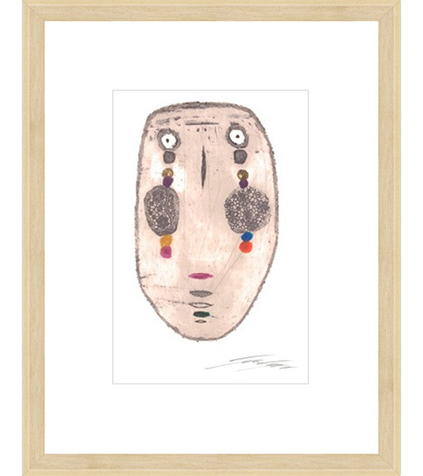 Face of Lawan Framed Print
