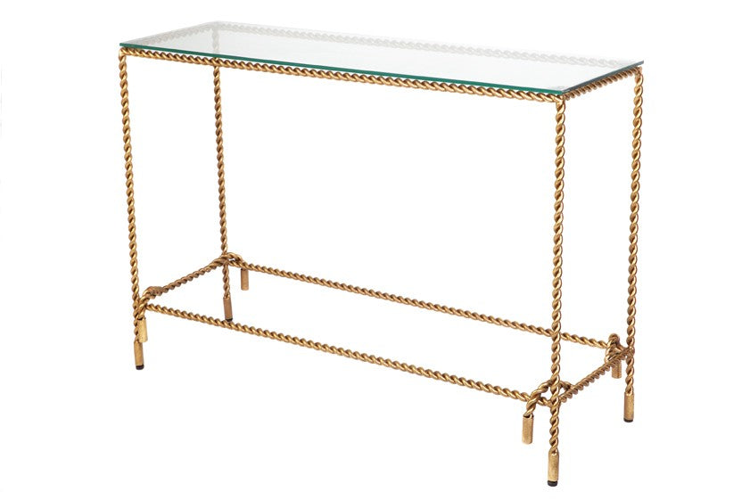 Costiera Console Table Gold