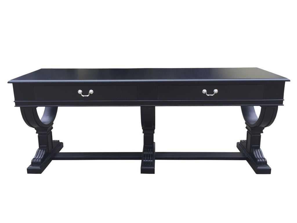 Curtis 2 Drawer Console Black