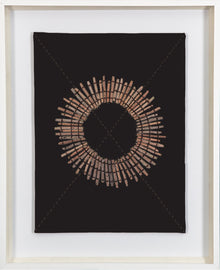 Linen Sticks Black Fabric Artwork