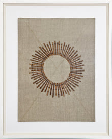 Linen Sticks Fabric Artwork