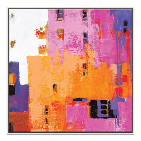 Gossip Framed Canvas Print
