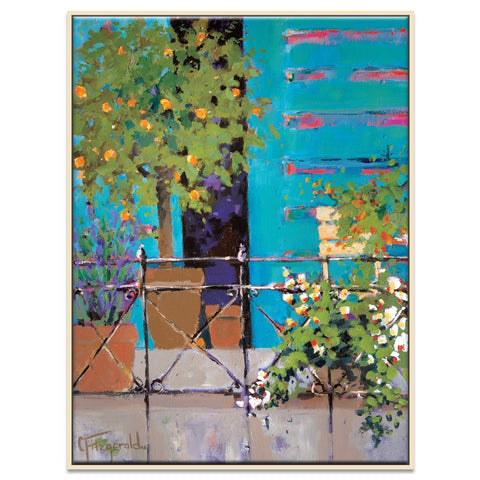 Balcony Appeal Framed Canvas Print