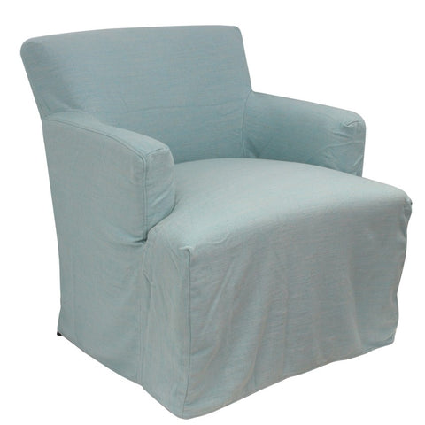 Nantucket Arm Chair Slip Cover Duck Egg Blue