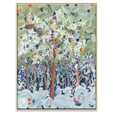 Botanical Tree Framed Canvas Print