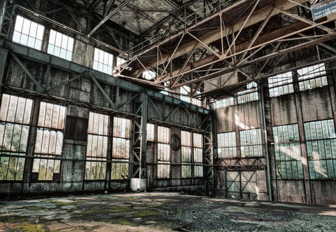 Warehouse Interior Photograph on Glass