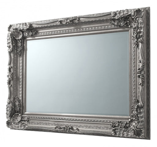 Carved French Wall Mirror Silver