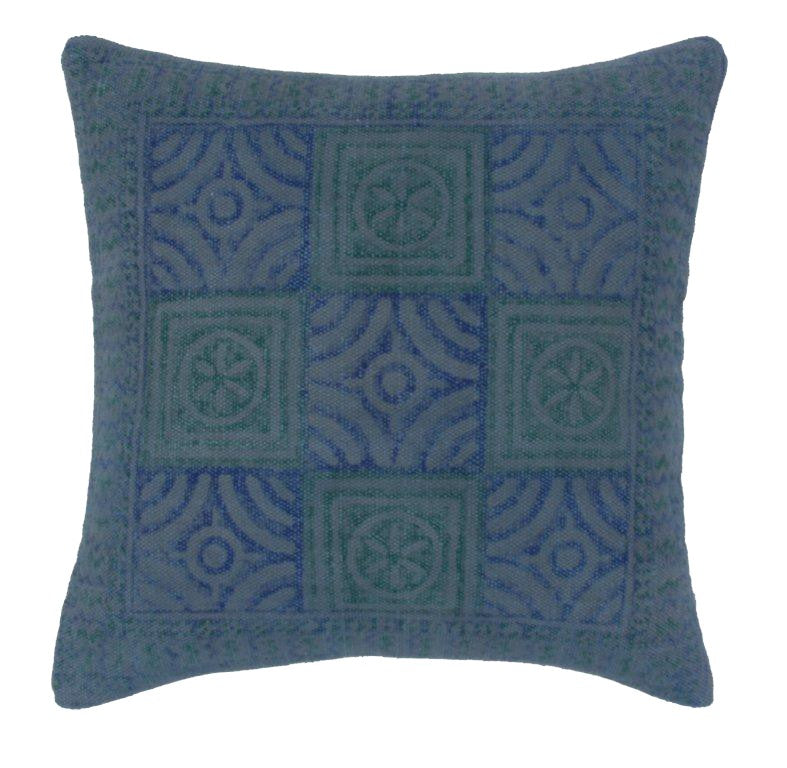 Blue and Green Inca Cushion