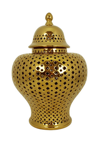 Minx Temple Jar Gold Medium
