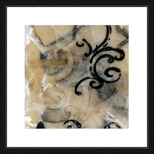 Swirls and Whirls III Framed Print
