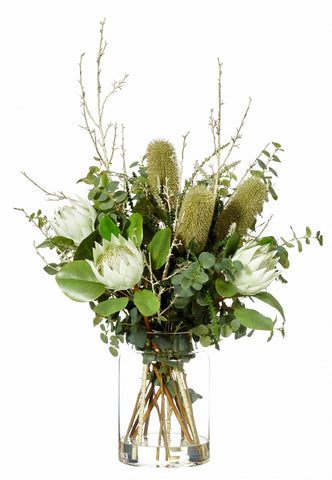 Native Mix Green in Pail Vase