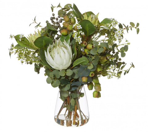 Native Mix Green in Tub Vase