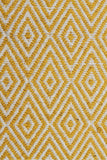 Modern Flatweave Diamond Design Yellow Rug