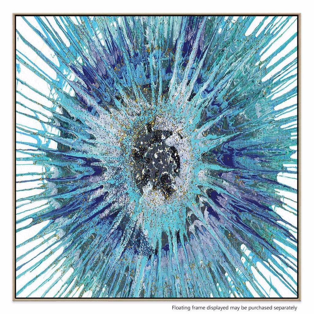 Floriburst Canvas Print with Floating Frame