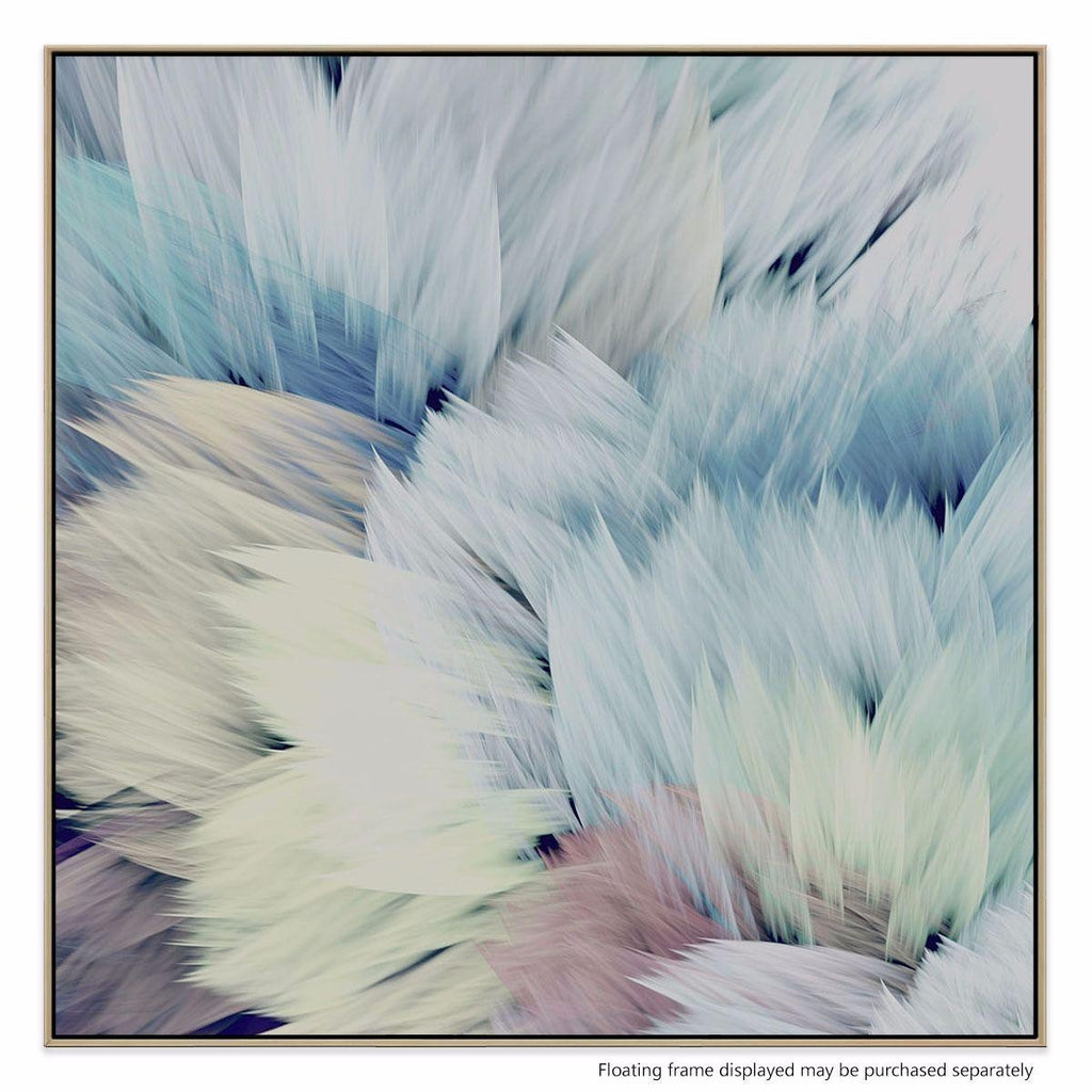 Flori star canvas print with floating frame interiors online for Modern art gallery online