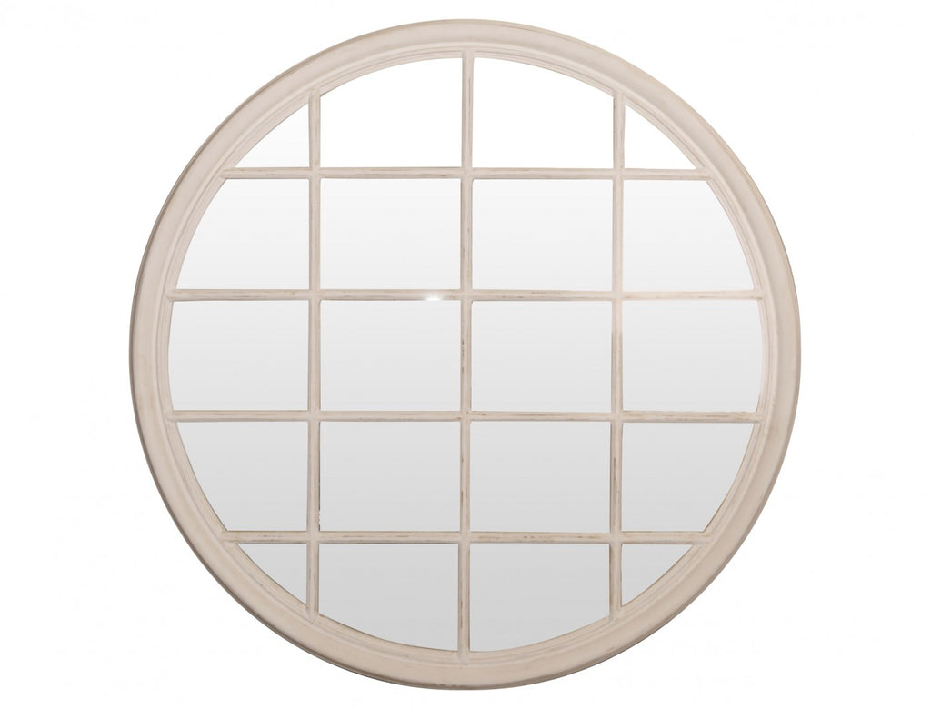 Round Mirror with Panes