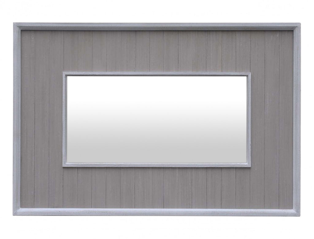 Stone Grey Slatted Mirror