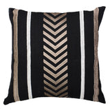 Arrow Stripe Black Cushion