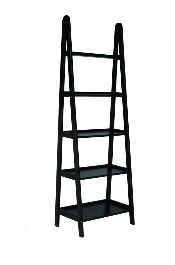 Freestanding Ladder with Shelves