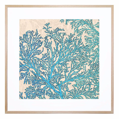Coral Flow Giclee Print with Frame