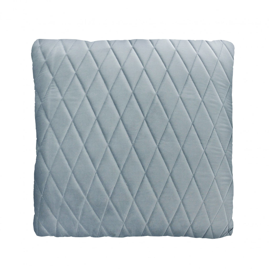 Blue Grey Coco Velvet Cushion
