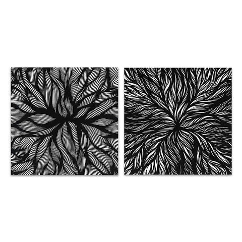 Practical Patterns/Practical Patterns 2 Canvas Paintings Pair