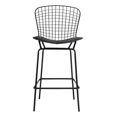 Replica Bertoia Wire Counter Stool Black Frame