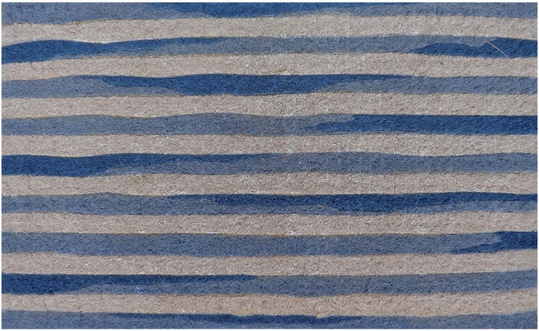 Blue White Stripe Doormat