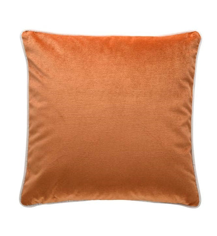 Burnt Orange Velvet Cushion