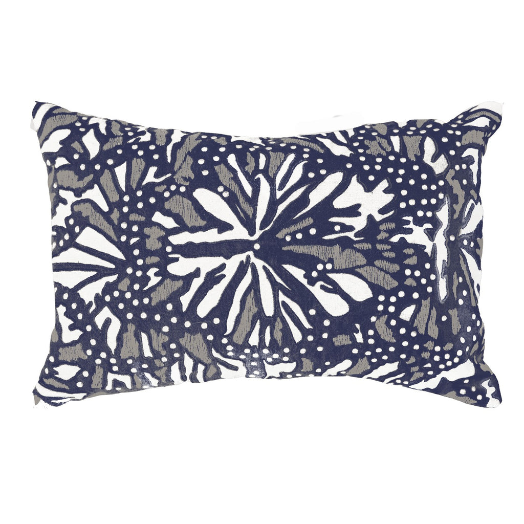 Butterfly Navy Lumber Cushion