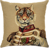 Uniformed Zoo Animals Cushion Tiger
