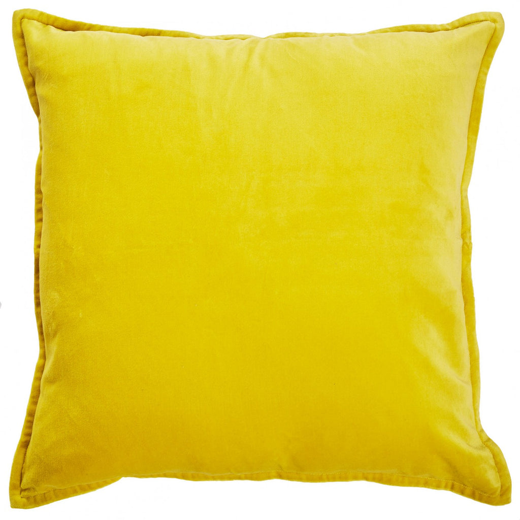 Sunshine Yellow Velvet Cushion