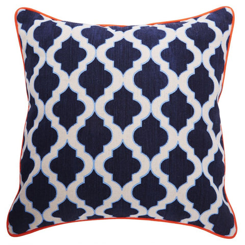 Bermuda Lantern Cushion Navy/Sky