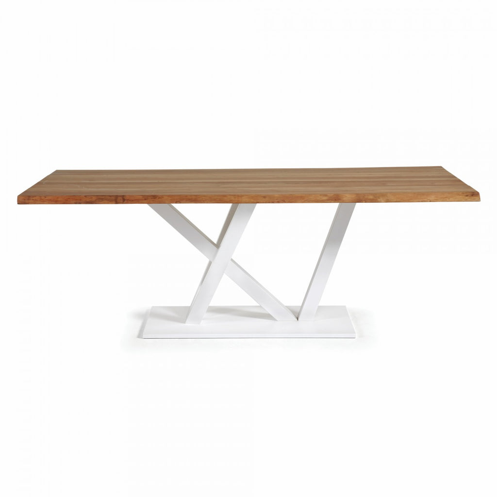 Uve Dining Table Oak/White 200cm
