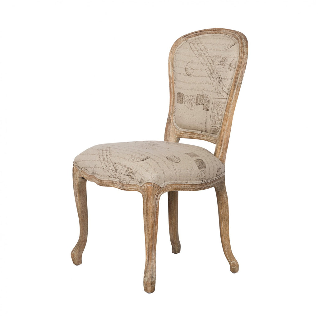 ... Louis XV Dining Chair French Script ...