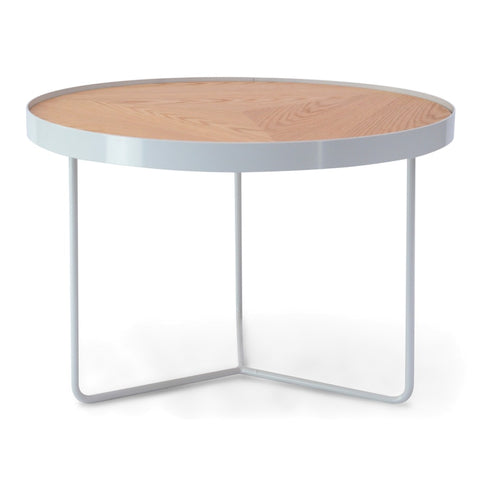 Holm Coffee Table White/Natural 60cm x 41cm