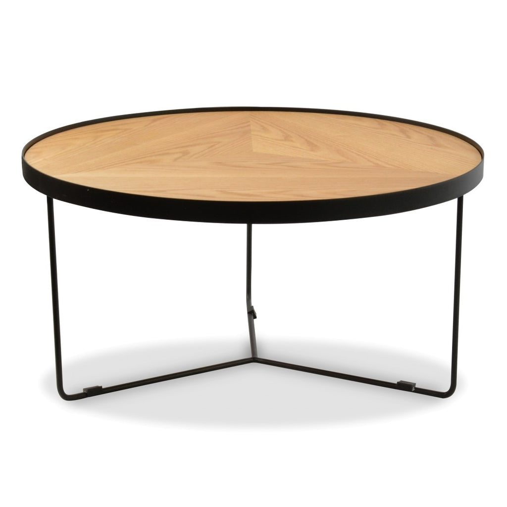 Holm Coffee Table Large Black Natural Tables Interiors Online